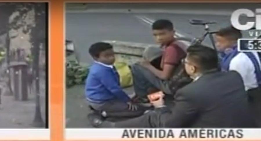 Periodista de City TV y niños