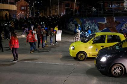 Bloqueo en Bogotá durante paro nacional