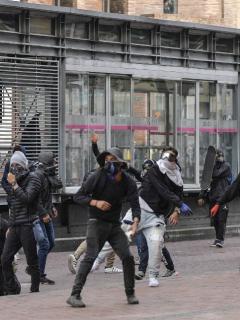 Manifestaciones paro nacional el 21 de enero en Transmilenio