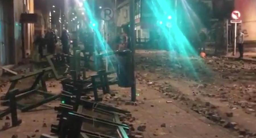 Centro de Bogotá vandalizado