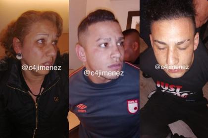 Colombianos secuestradores en México