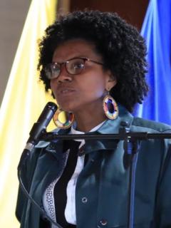 Mábel Torres, ministra de Ciencia y Tecnología