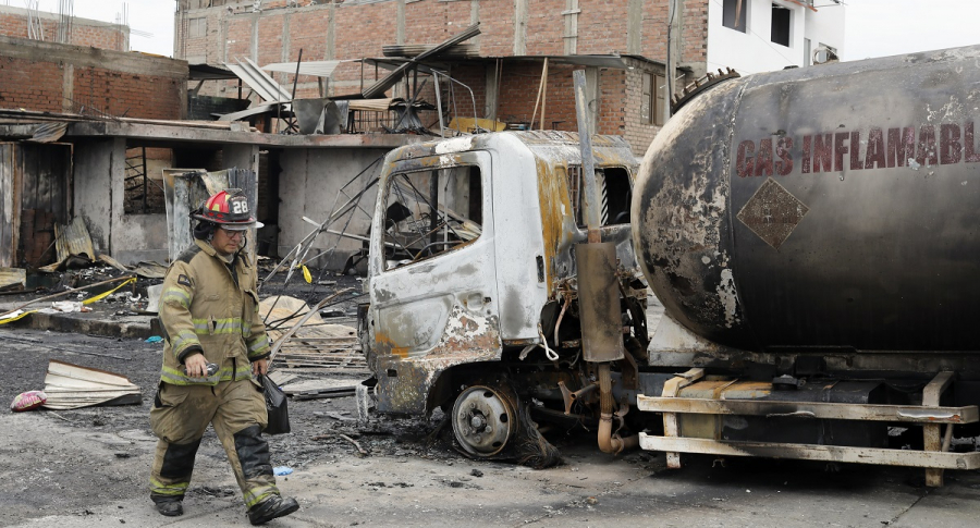 Explosión de camión cisterna