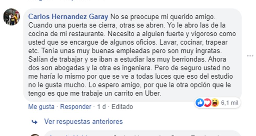 Captura: Facebook
