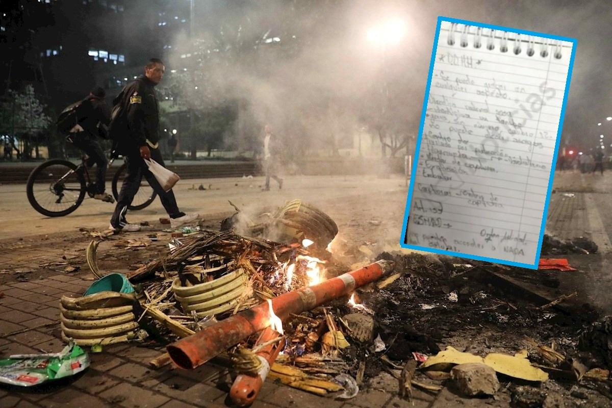 Disturbios en protesta y libreta de vándalo-1