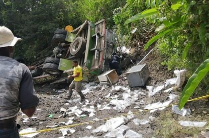 Accidente de bus escalera en Cauca
