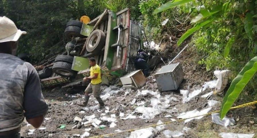 Accidente de bus escalera en Cauca
