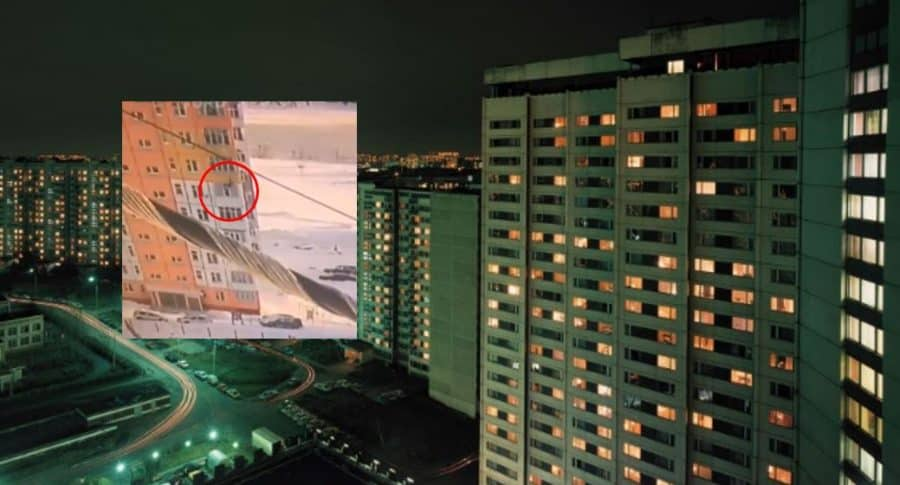 Rusa cae de piso 9 edificio