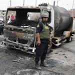 Camión que explotó en Lima