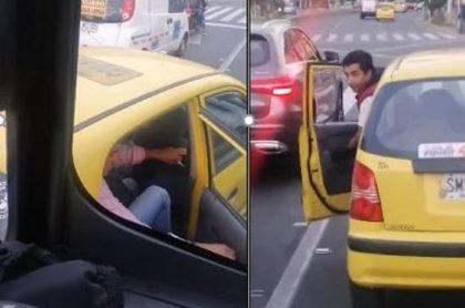 Choque de bus Sitp y taxi