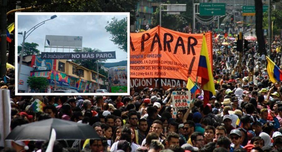 Pasacalles en Medellín.