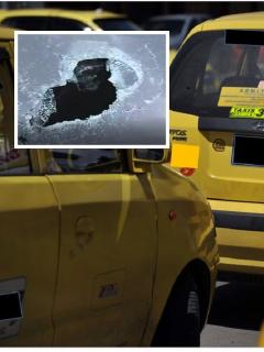 Taxistas destrozaron carro de conductor que decían era Uber; él iba a recoger a su esposa