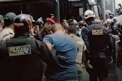 Delincuentes capturados en Perú