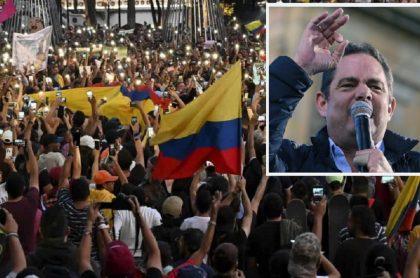 Collage: Protestas en Colombia / Germán Vargas Lleras