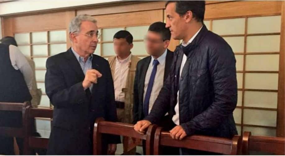 Álvaro Uribe, expresidente y senador, y Rafael Nieto Loaiza, exministro.