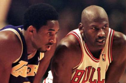 Kobe Bryant y Michael Jordan