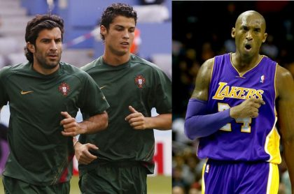 Figo, Cristiano Ronaldo y Kobe Bryant