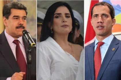 Nicolás Maduro, Aída Merlano y Juan Guaidó