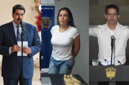 Nicolás Maduro Aída Merlano y Juan Guaidó|
