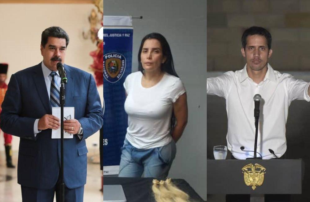 Nicolás Maduro Aída Merlano y Juan Guaidó 