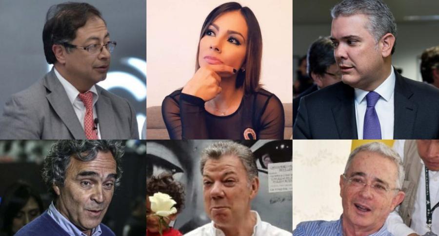 Esperanza Gómez y políticos colombianos