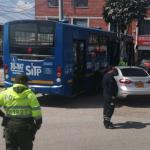 Accidente de bus del SITP, en Bogotá