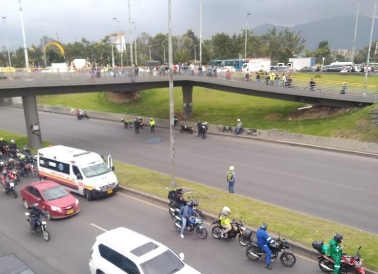 Accidente en avenida 68
