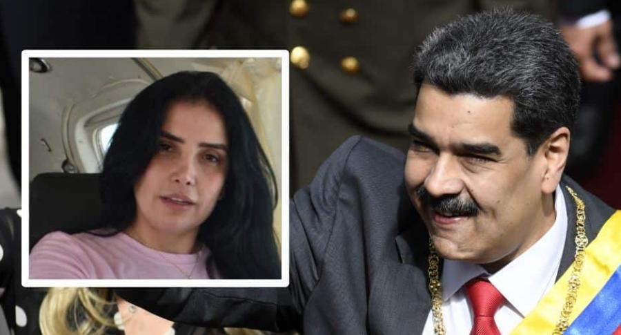 Aída Merlano y Nicolás Maduro
