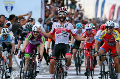 Fernando Gaviria en la Vuelta a San Juan 2020