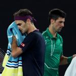 Roger Federer y Novak Djokovic, en el Abierto de Australia 2020