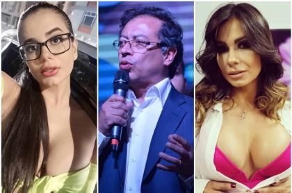 Amaranta Hank, Gustavo Petro y Esperanza Gómez