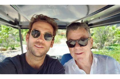 Martín y Juan Manuel Santos