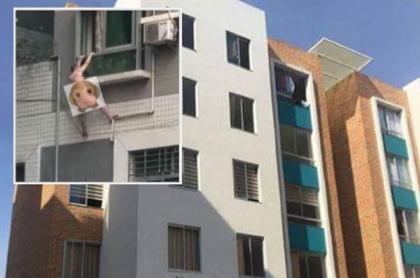 Accidente en edificio en Huila