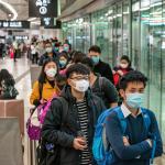 Chinos durante brote del coronavirus