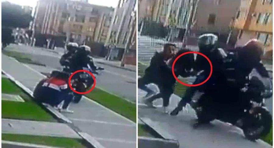 Ladrones en moto robaron a joven