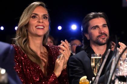 Karen Martínez, exreina y presentadora, con su esposo Juanes, cantante.