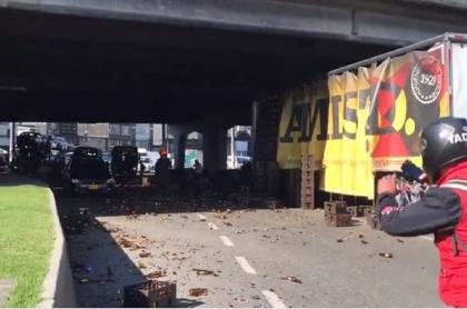 Accidente de camión en Bogotá