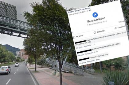 Puente donde ocurrió el crimen y el mensaje de la mujer