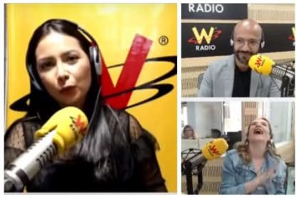 Ángela Hernández, Juan Pablo Calvás y Paola Herrera
