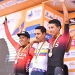 Nairo Quintana, Daniel Martínez y Egan Bernal