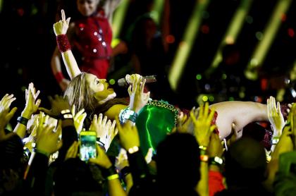 Shakira en el Super Bowl.