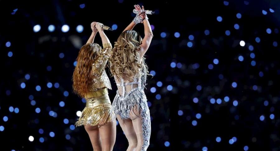 Shakira y J Lo en el Super Bowl.