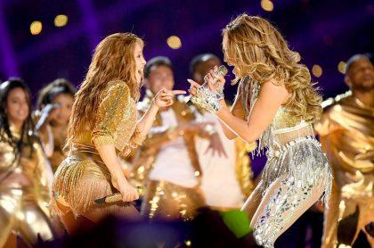 Shakira y Jennifer Lopez en el Super Bowl 2020.
