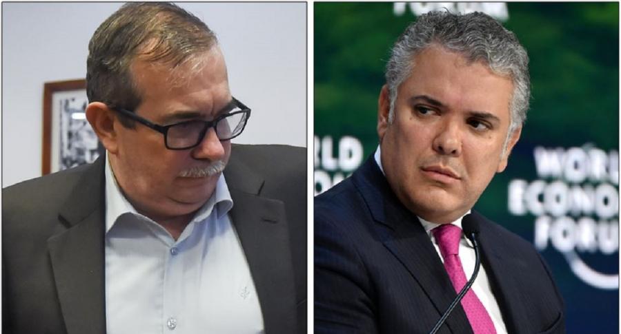 Rodrigo Londoño e Iván Duque