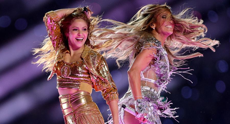 Shakira y Jennifer López en el show del medio tiempo de Super Bowl
