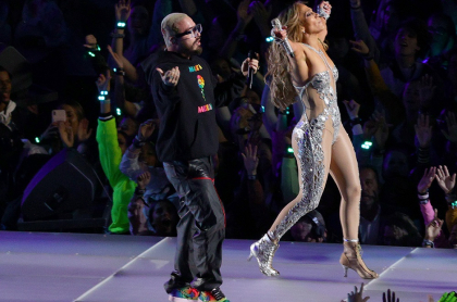 J Balvin y Jennifer Lopez, cantantes.