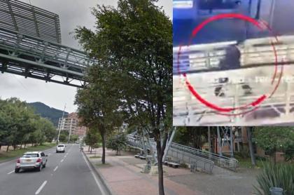 Puente peatonal de la calle 123 con carrera Novena / persona que disparó contra 3 presuntos ladrones.