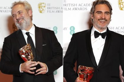 Sam Mendes, director, y Joaquin Phoenix, actor.