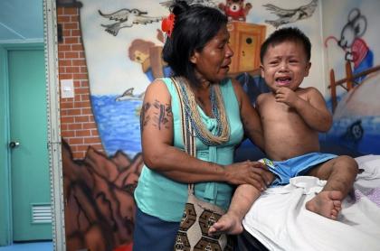 Niño enfermo en Chocó