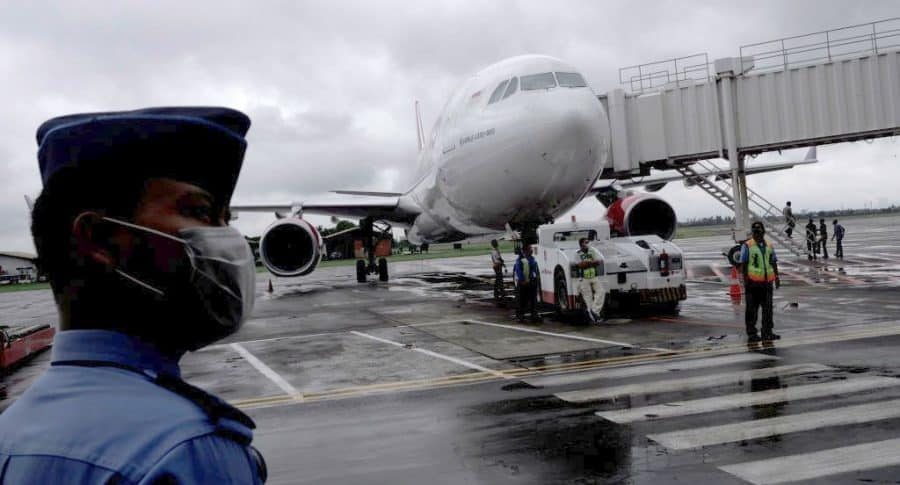 Aeropuerto en medio de brote de coronavirus de Wuhan